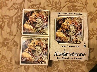 Native American Coasters Giftset By Absorbastone Set Of 4
