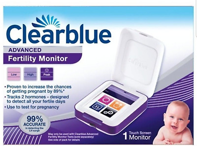 Clearblue Fertility Monitor Advanced Factory / Touch Screen - New  **free Post