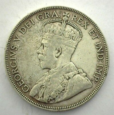 Canada 1936 Silver 50 Cents  Extremely Fine  Km#25A