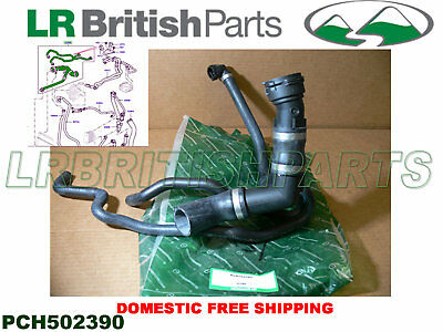 For Land Rover Range Rover Set of 2 06-09 4.2L V8 Lower Radiator Hose EUROSPARE