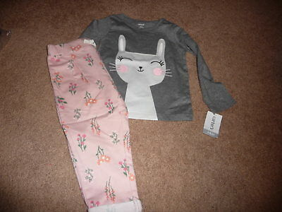 NEW NWT Carters girls size 24 months Gorgeous bunny/floral pant outfit