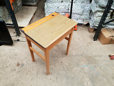 Vintage Childrens Opening School Desk  -  Antique Childs Classroom Table