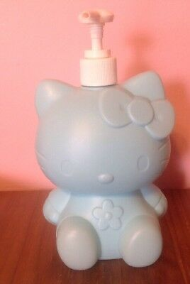 Hello Kitty Vintage Blue Bathroom Kitchen Soap Lotion Plastic Pump 1999  Sanrio