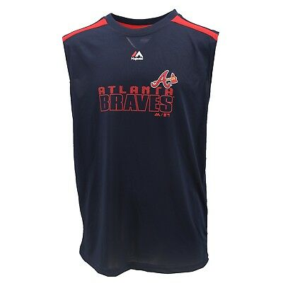 Atlanta Braves MLB Majestic Cool Base Kids Youth Size Athletic Tank Top New Tags