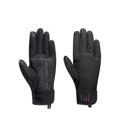Harley-Davidson Womens Kendel Soft Shell Touchscreen Compatible Black Glove