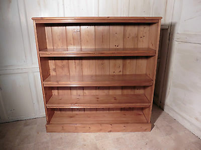 Victorian Stripped Pine Open Bookcase.