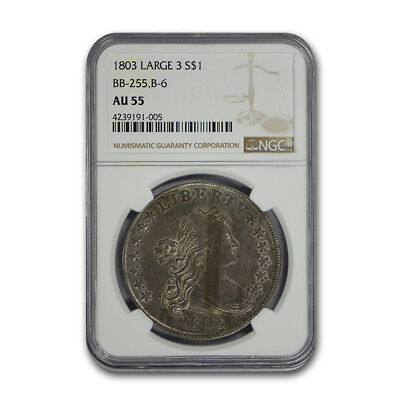 1803 Draped Bust Dollar AU-55 NGC (Large 3) - SKU#132778