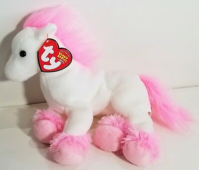 """TY Beanie Babies """"AVALON"""" the Pink & White HORSE ~ MWMTs! RETIRED! GREAT GIFT!"""