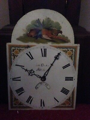 18 Th Century   Clock Face  Pheasants 11 By 16