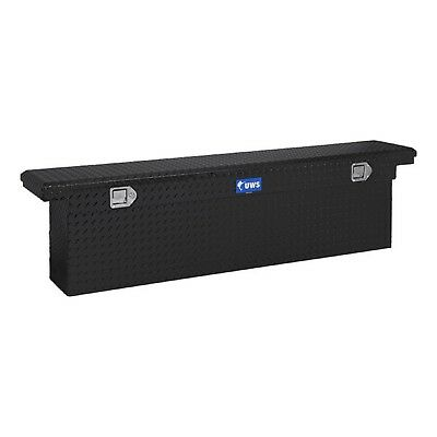 """UWS TBSD-63A-BLK Black Aluminum 63"""" 7.7 Cubic Ft Angled Deep Crossover Tool Box"""