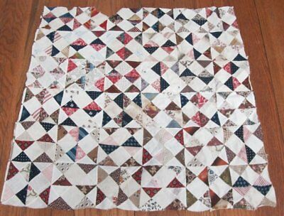 Early c 1830s Broken Dishes ANTIQUE Quilt Top pcs   FABRIC STUDY