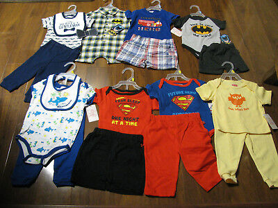 17 Piece Lot Baby Boys Spring Summer Clothes Size 3/6 6/9 Months 3/6M 6/9M New