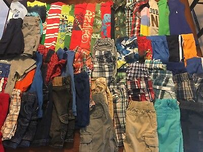 Big Lot Boys Size 2T 24M Spring/summer Clothes Euc Shirts And Shorts Outfits
