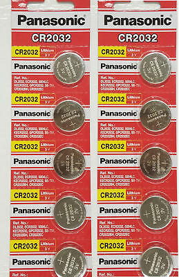 100 SUPER FRESH Panasonic ECR2032 CR2032 Lithium Battery 3V Coin Cell Exp. 2027