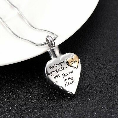 Cremation memorial keepsake dad forever heart pendant and necklace cremation memorial keepsake dad forever heart pendant and necklace for ashes aloadofball Image collections
