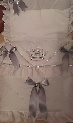 white/silver grey  bling Romany style  cosytoes  **NEW**