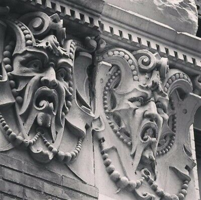 2-129 Yo. Architectural Salvage Grotesque & 2-Frieze Ny History. 8 Pieces Total