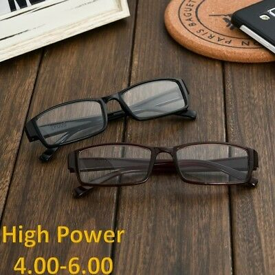 053b6161822 4 pair BLACK reading glasses pack HIGH POWER extra strength 4.00-6.00 USA  FREE