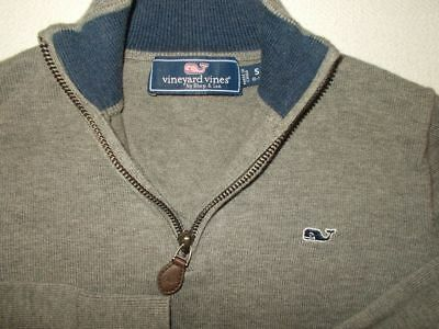 Boys Vineyard Vines 1/4 Zip Gray Pullover Sweater-Size S (8-10