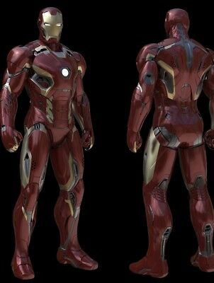 ALL PLASTIC IRON MAN MARK 45 46 PAIR OF SHOULDERS COSPLAY Costume Adult Armor