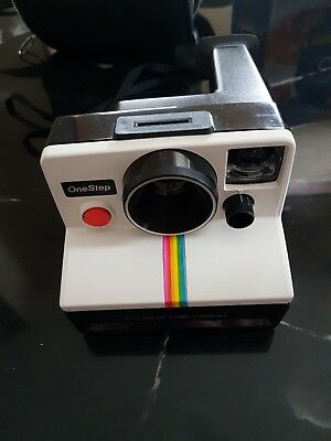 Vintage Polaroid SX-70 One Step Instant Land Camera - White Rainbow Untested