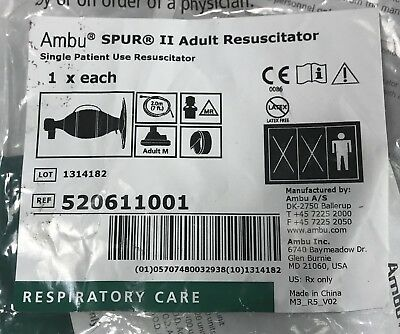5206110001 Ambu Spur II Adult Single Use Resuscitator Adult Medium