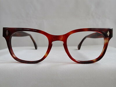 True Vintage foremost Tortoise Shell Plastic Hornrim 1960's Eyeglass Frame 49/24