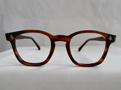 True Vintage AO American Optical Tortoise Flexi Hornrim 1960's Eyeglass Frame