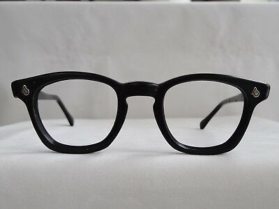 True Vintage AO American Optical Black Flexi Logo Hornrim 1960's Eyeglass Frame