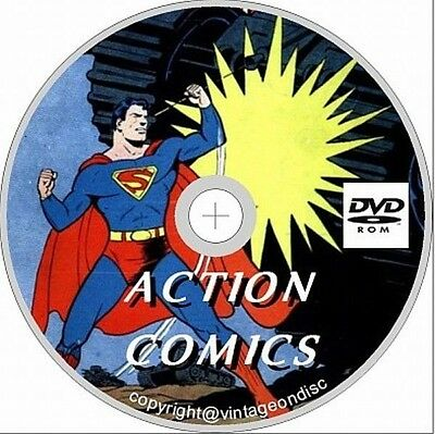 Action Comics Issues 1-200 Golden Age on Dvd Rom