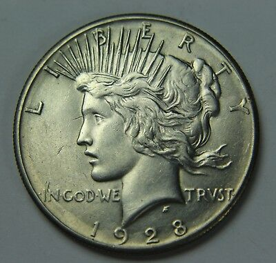 1928-P Peace 90% Silver Dollar Key Date Free Shipping $1 Old US Coin P2R D033