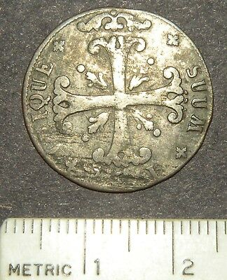 Post Medieval Coin 1600's Crusader Iron Cross Colonial Silver Antique Europe Lot