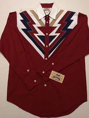 Western Shirt Men's M ranch country music line square dance cowboy Ranchwear