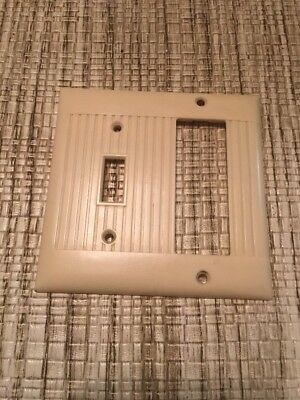 Vintage Sierra Electric Co.Triplex Outlet/ Light Switch Cover Hard To Find!
