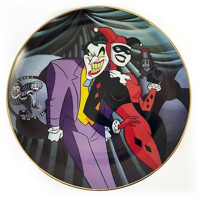 Joker & Harley Quinn Batman Animated Series Wb Collector Plate Limited Edition