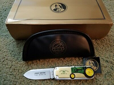 New John Deere Franklin Mint 1948 Model B Tractor Pocket Knife With Case