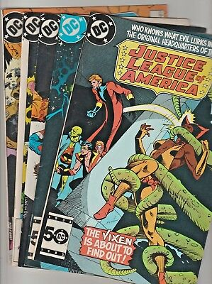 JUSTICE LEAGUE OF AMERICA (1961) no.247,248,249,250 & 251 all in 9.0 Bronze-Age!