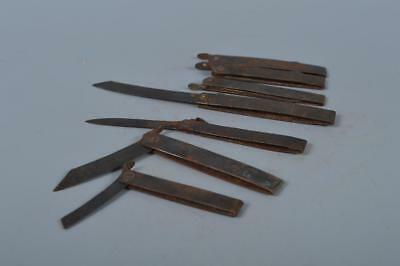 K7174: Japanese Old Iron higonokami scalpel knife 7pcs, auto hand tool