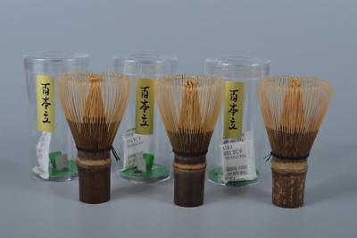 K7329: Japanese Bamboo TEA WHISK Chasen 3pcs, Unused Tea Ceremony