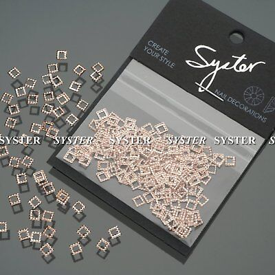 SYSTER 200 Pcs Rose Gold 3D Metal Nail Art Decorations Frame #S1005