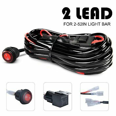 2 lead wiring harness kit 12v 40a on off switch for led spot light 2 lead wiring harness kit 12v 40a on off switch for led spot light atv