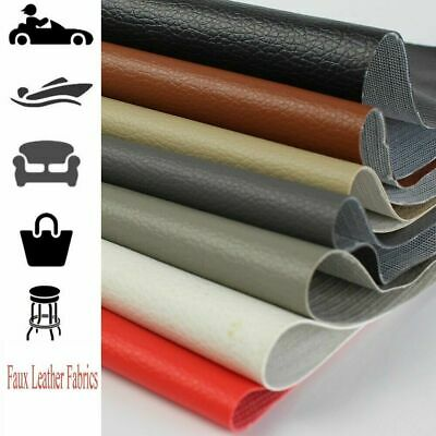 "Auto Marine PVC Vinyl Fabric Fake Leather Upholstery Waterproof 1YD-10YD 54""W"