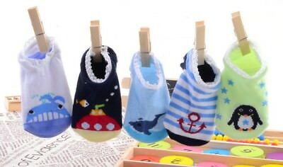 Free Shipping 5 PAIR Baby Cotton Baby Kids Anti-slip Slippers Animals Sock  New