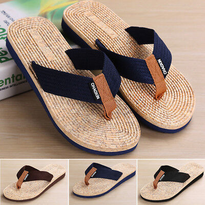 2c08de619fda 2018 Men s Summer Beach Pool Flip Flops Slippers Home Casual Sandals flat  Shoes
