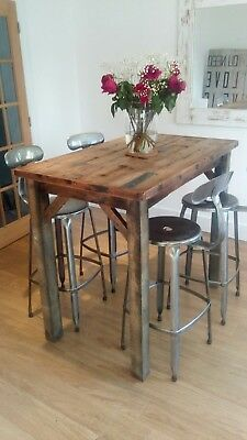 Bar Table / Breakfast Bar / Industrial Chic / Rustic