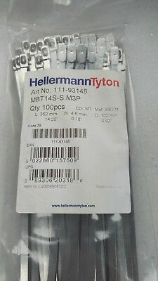 Hellermann Tyton stainless Steel Cable Ties 681mm x 4.6mm pack 25