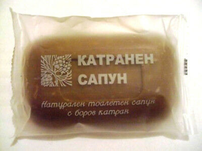 Coal Pine Tar Soap Prophylaxis for Dandruff Eczema Acne Dermatitis Oily Skin