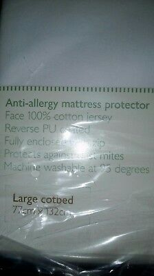 a new /other john lewis quilted cot matress protecter  jersey anti /all ergy £11