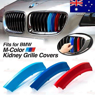 M-Sport Kidney Grille Tri-Color Covers Insert Clips for BMW *ALL Series HERE* AU