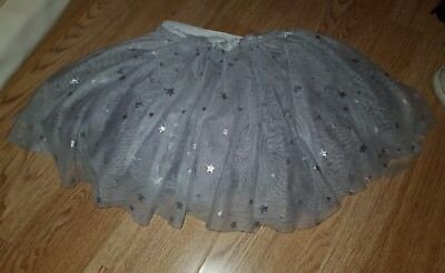 girls grey star full tutu skirt 12-18 months will fit 18-24 months 2 years